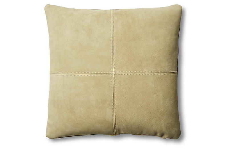 Ava Pillow, Olive Suede