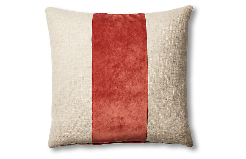 Blakely 19x19 Pillow, Natural/Rust
