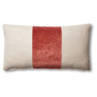Blakely 12x23 Lumbar Pillow, Natural/Rust