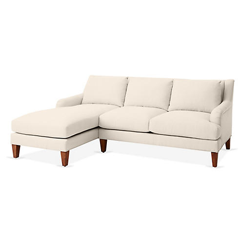 Merrimack Left-Facing Sectional, Dune Linen