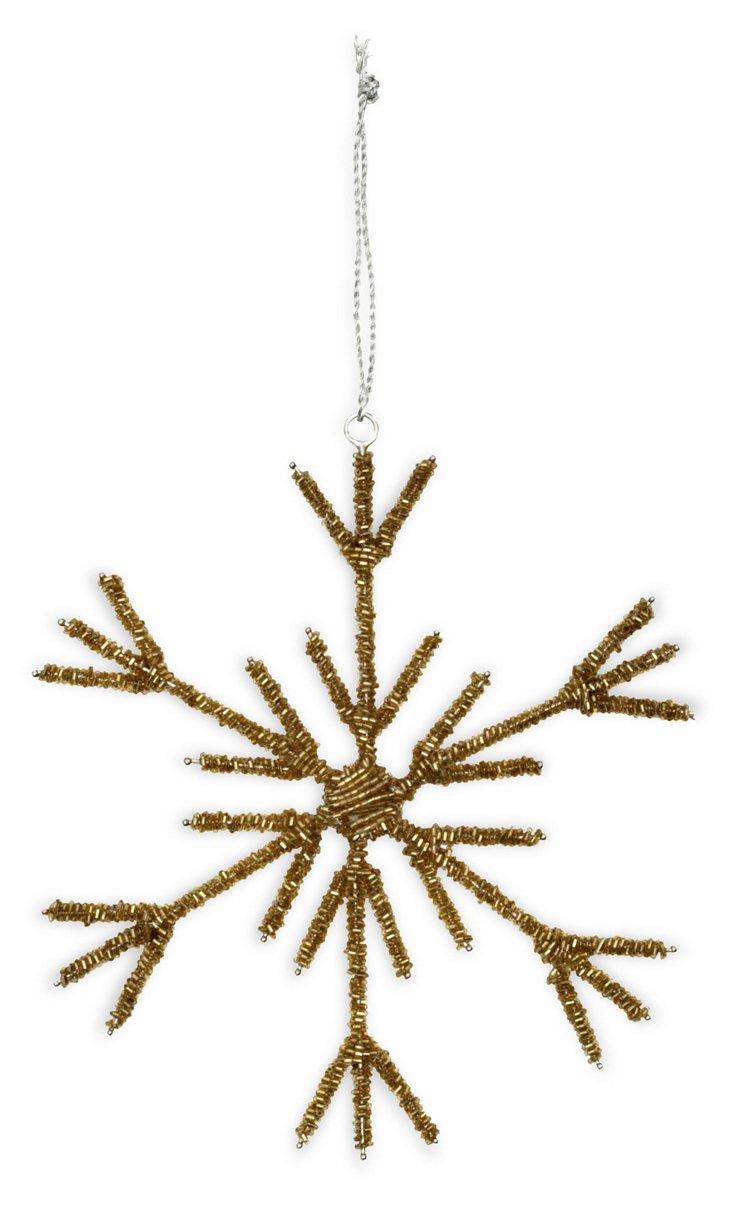 "8"" Snowflake Ornament, Gold"