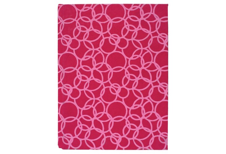 S/2 Large Cotton Journals, Pink Circles