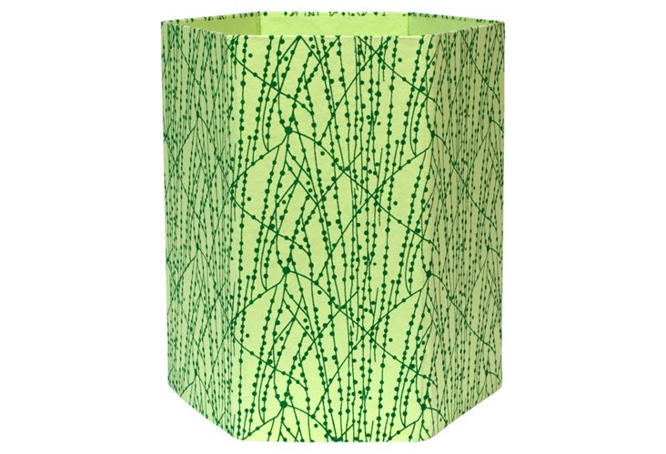 Wastepaper Basket, Green Vine