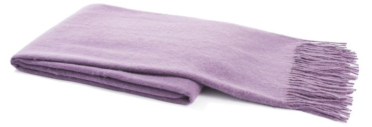 Weave Cashmere-Blended Throw, Purple
