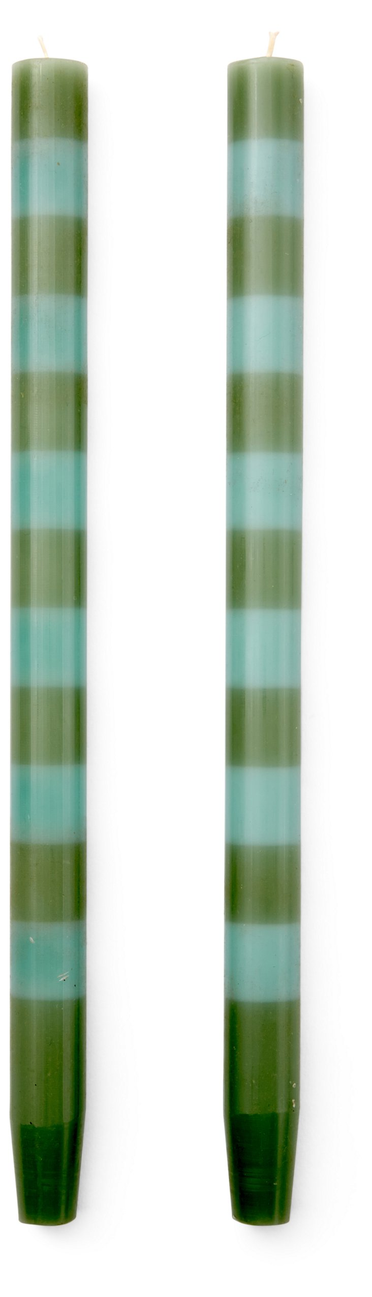 S/4 Taper Candles, Sage/Cyan