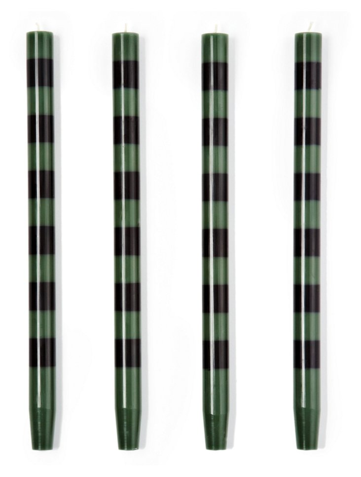 S/4 Wedgwood-Black Tapers
