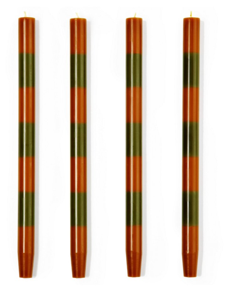 S/4 Amber-Moss Tapers