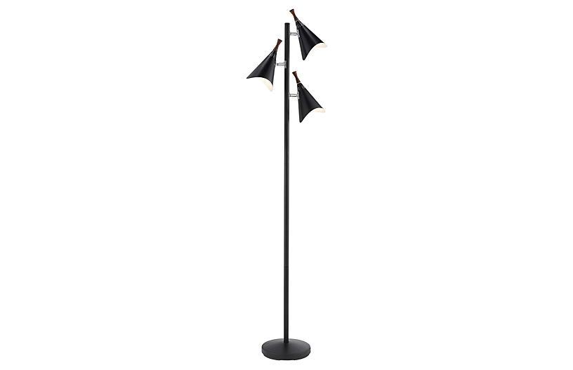 Draper Floor Lamp, Black