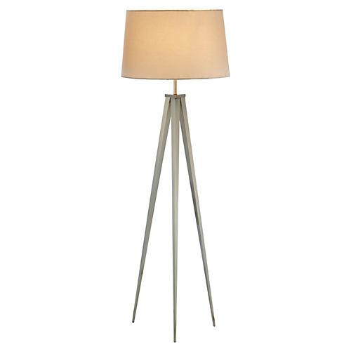 Director's Tripod Floor Lamp, Steel