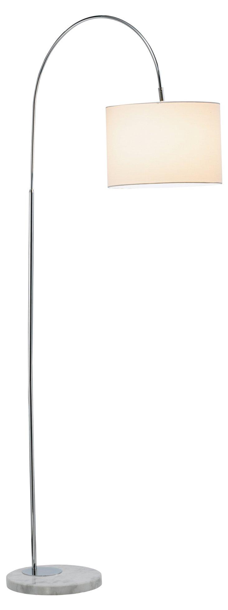Grace Floor Lamp, Chrome