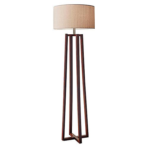 Quinn Floor Lamp, Walnut