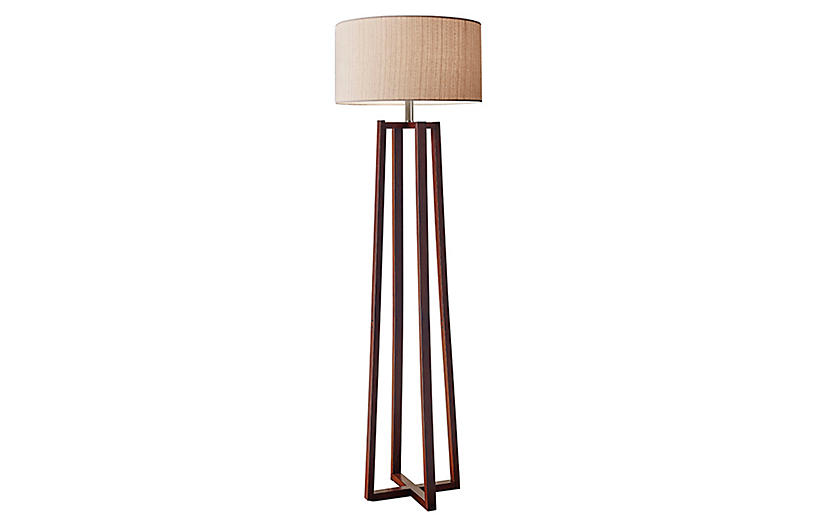Quinn Floor Lamp, Walnut