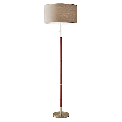 Hamilton Floor Lamp, Walnut