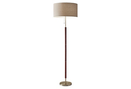 Hamilton Floor Lamp, Walnut