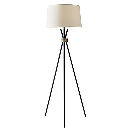 Benson Floor Lamp, Black