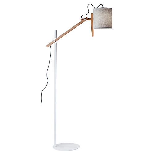 Keaton Floor Lamp, White