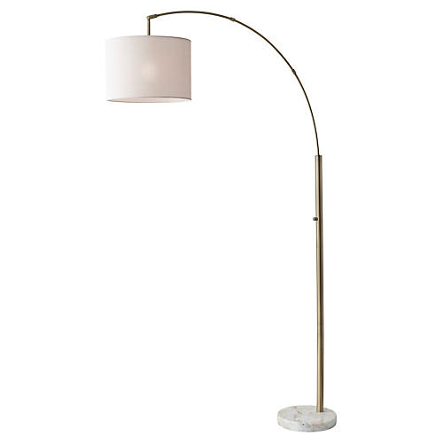 Bowery Arc Floor Lamp, White