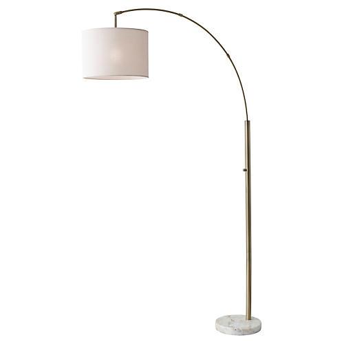 Bowery Arc Floor Lamp, White