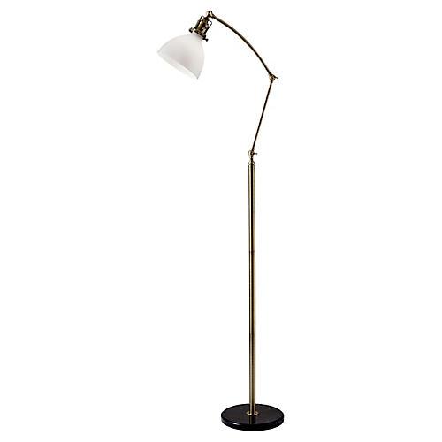 Maren Floor Lamp, Antiqued Brass