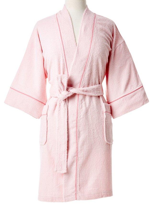 Zero Twist Kimono Robe, Light Pink