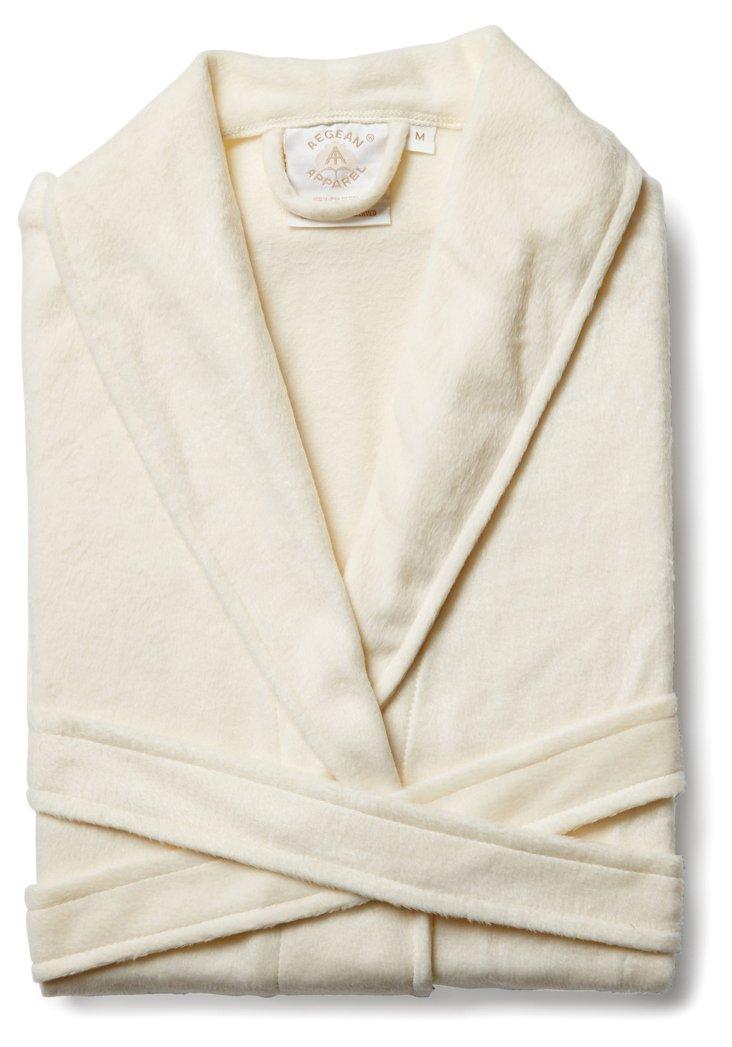 Solid Minky Robe, Cream