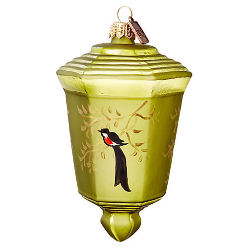 Japanese Lantern Ornament, Green