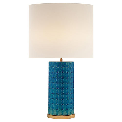 Eliot Table Lamp, Blue Wave