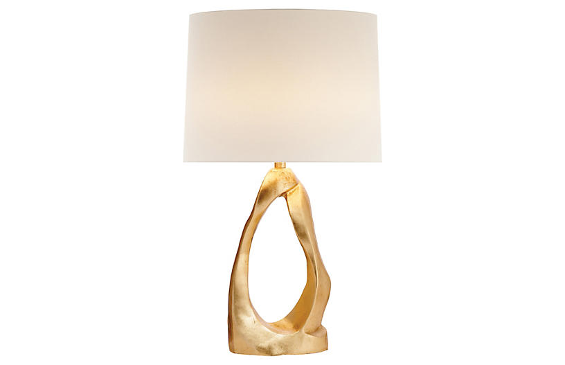 Cannes Table Lamp, Gild