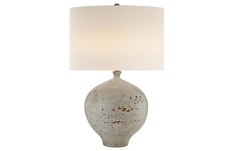 Gaios Table Lamp, Pharoah White