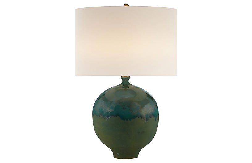 Gaios Table Lamp, Volcanic Verdi