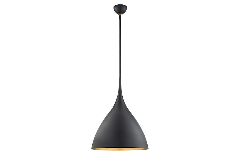 Agnes Medium Pendant, Matte Black