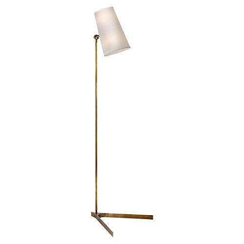 Arpont Floor Lamp, Antiqued Brass