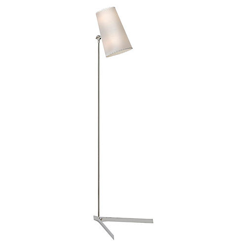 Arpont Floor Lamp, Polished Nickel