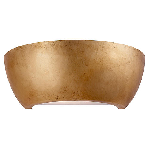 Arvour Medium Sconce, Gild