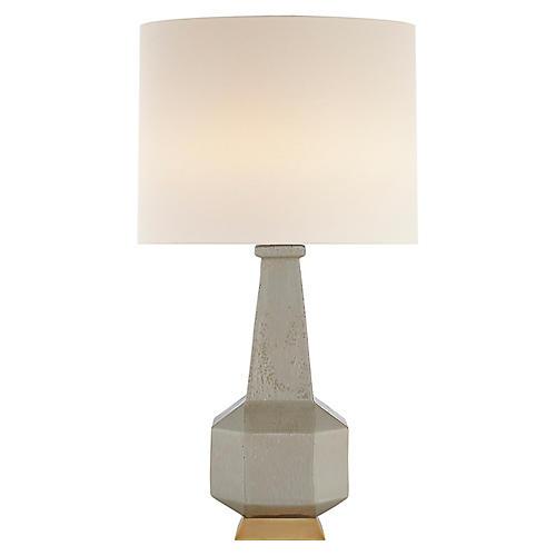 Babette Table Lamp, Shellish Gray