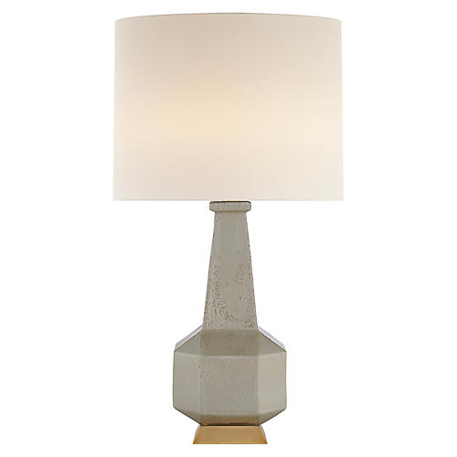 Babette Table Lamp, Shellish Gray
