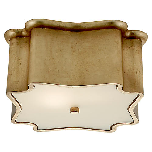 Bolsena Deco Flush Mount, Gild