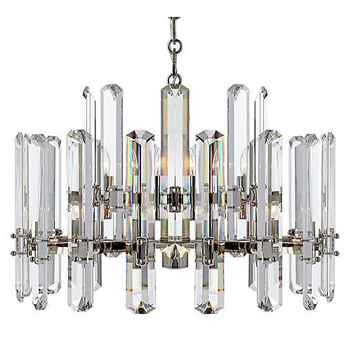 Bonnington Chandelier, Polished Nickel