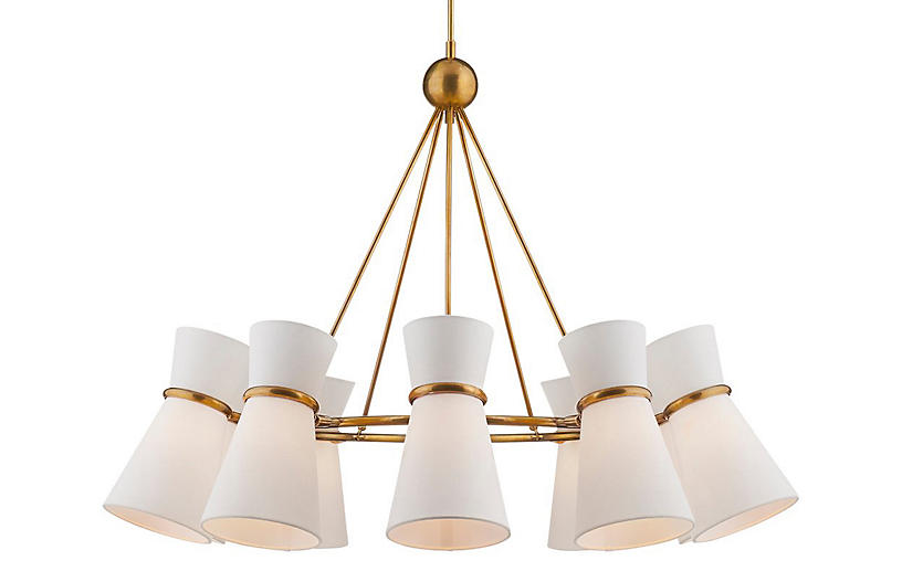 Clarkson Chandelier Antiqued Br Lighting By