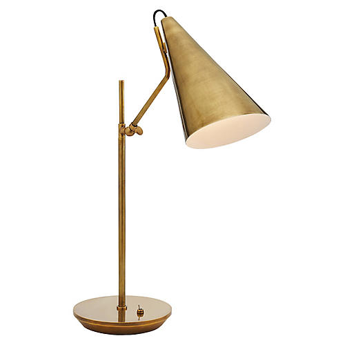 Clemente Table Lamp, Antiqued Brass