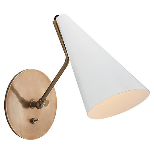 Clemente Sconce, White/Brass