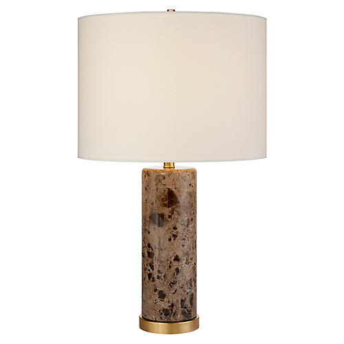 Cliff Table Lamp, Brown Marble