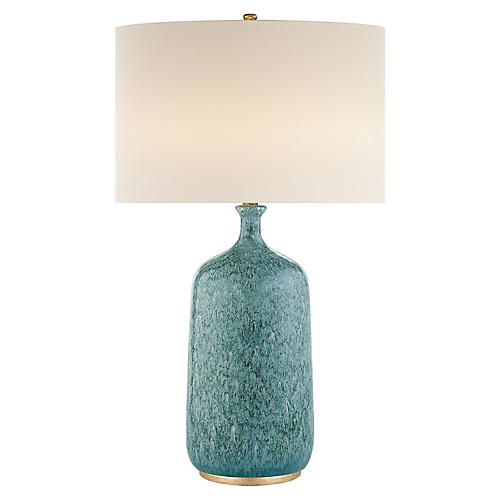 Culloden Table Lamp, Blue Lagoon