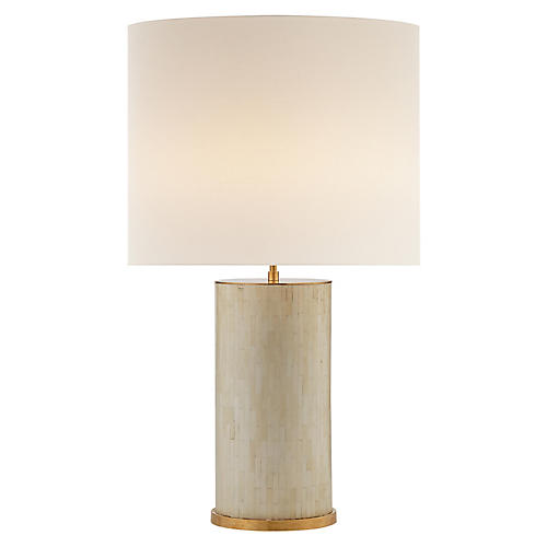 Eliot Table Lamp, Bone Tile