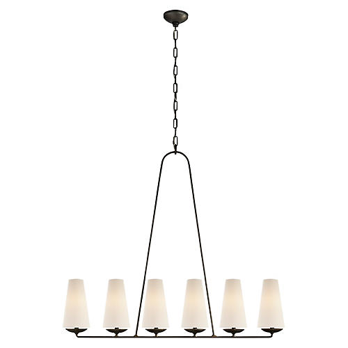 Fontaine Linear Pendant, Aged Iron