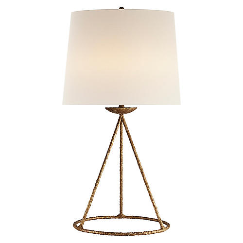 Fontaine Table Lamp, Gilded Plaster