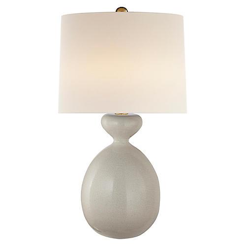 Gannet Table Lamp, Bone Craquelure