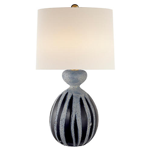 Gannet Table Lamp, Drizzled Cobalt
