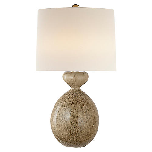 Gannet Table Lamp, Marbleized Sienna