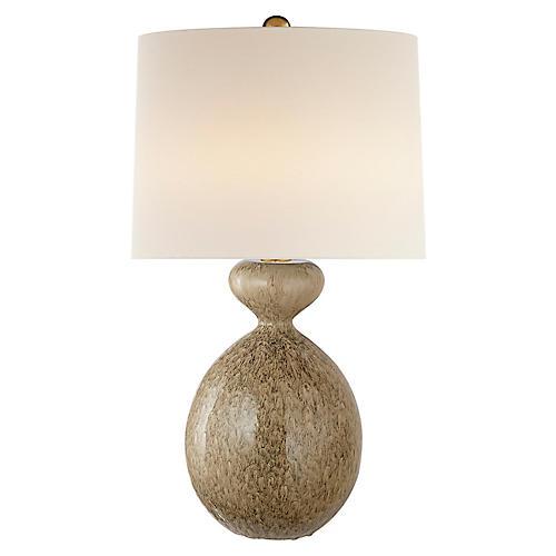 Gannet Table Lamp, Marbleized Sienna